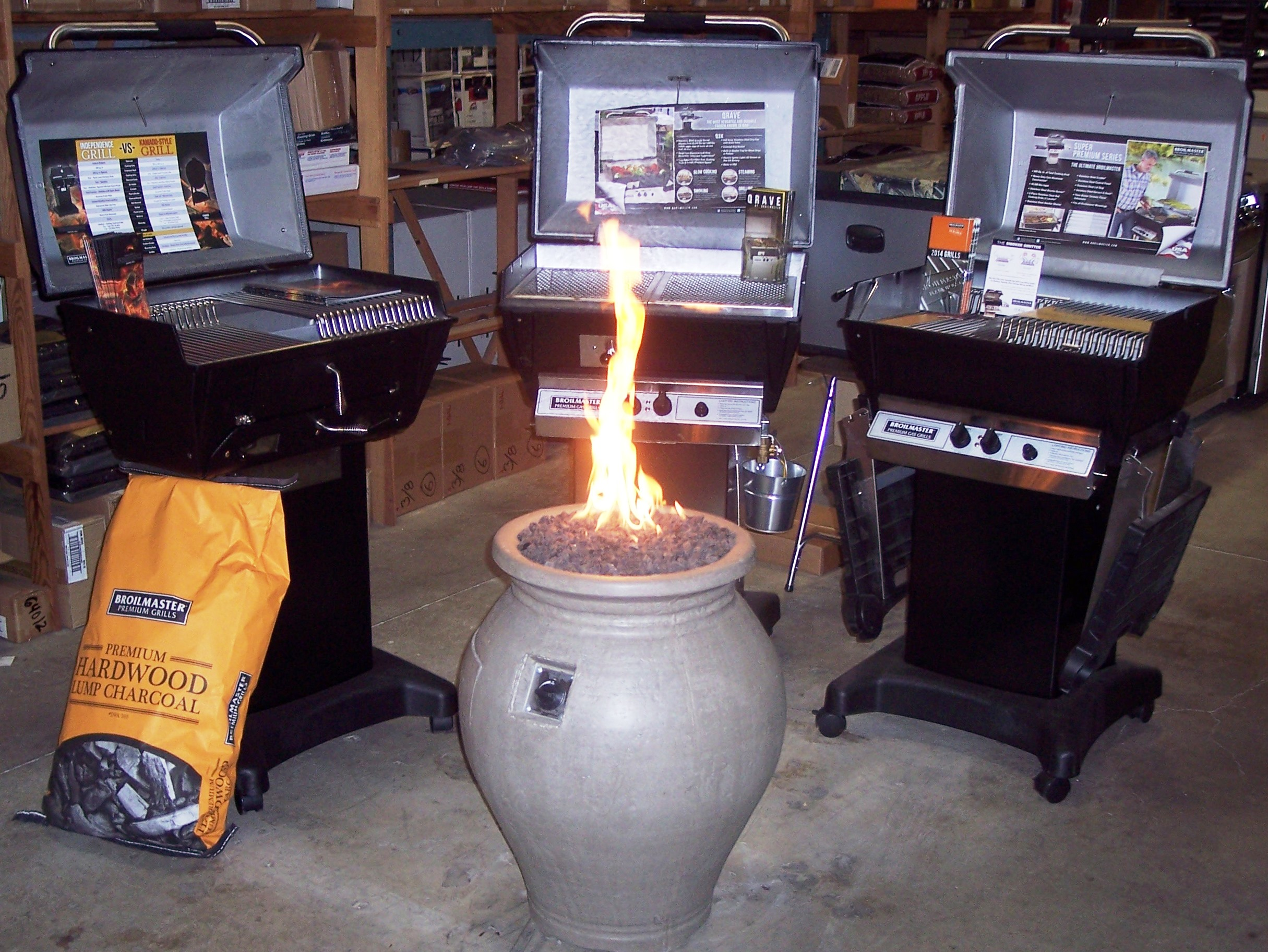 Broilmaster Grills and American Fyre Designs Amphora Urn